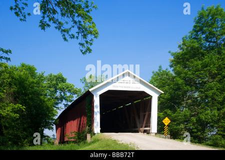 Die McAllister Covered Bridge County Road East 400 Süden im Parke County - Stockfoto