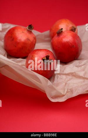 frische rote Granatapfel - Stockfoto