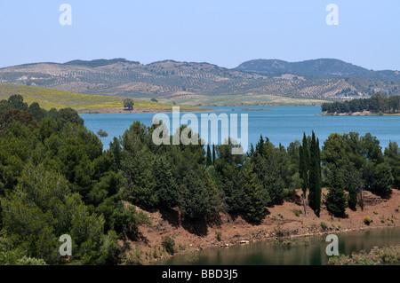 Lake Embalse del Conde de Guadalteba in der Nähe von Ardales Malaga Provinz Andalusien Spanien