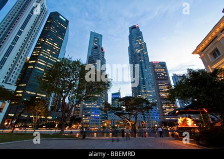 Asien-Singapur Singapur Skyline panorama - Stockfoto