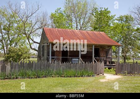 Slave-Viertel auf Laura Plantation - Stockfoto