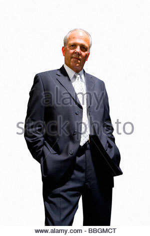 Geschäftsmann, posieren, Ausschneiden - Stockfoto