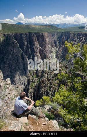 Blick vom Warner Point des Black Canyon des Gunnison National Park Colorado USA - Stockfoto