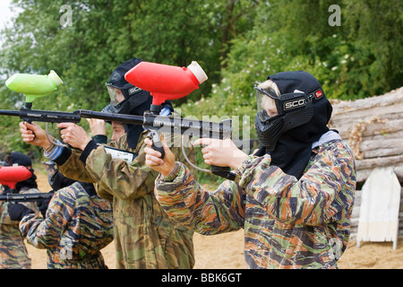 Paintball-Spieler - Stockfoto