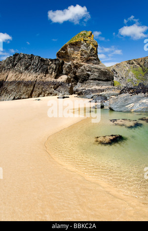 Der Strand von Bedruthan Steps auf der North Cornwall Coast, England, UK - Stockfoto