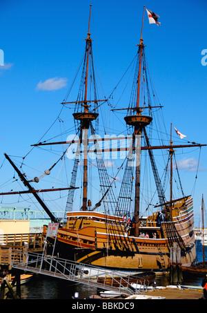 Die Mayflower II Schiff, Plymouth, Massachusetts, USA - Stockfoto