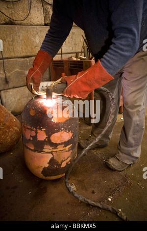 Recyling von Warmwasser-Kessel, die alle Gemeinden in den ...