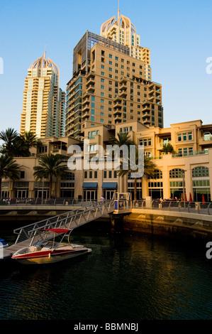 Der neue Bereich der Dubai Marina in Dubai - Stockfoto