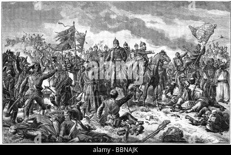 Ereignisse, Französisch-Prischer Krieg 1870 - 1871, Schlacht bei Sedan, 1.- 2.9.1870, König wilhelm von Preßburg - Stockfoto