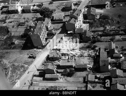 Ereignisse, Zweiter Weltkrieg/zweiter Weltkrieg, Luftkrieg, Frankreich 1942/1943, britischer luftangriff auf einen - Stockfoto