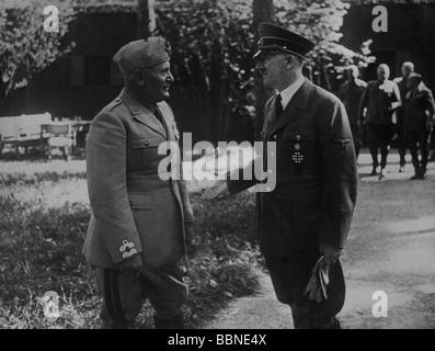 Mussolini, Benito, 29.7.1883 - 28.4.1945, italienischer Politiker, Ministerpräsident 30.10.1922 - 25.7.1943, volle - Stockfoto
