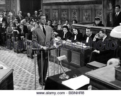 Borsche, Dieter, 25.10.1909 - 8.5.1982, deutscher Schauspieler, halbe Länge, mit Jean Marais, im Film 'Der Arzt - Stockfoto