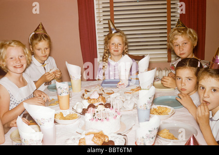 Kindergeburtstag, Kanada 1958 - Stockfoto