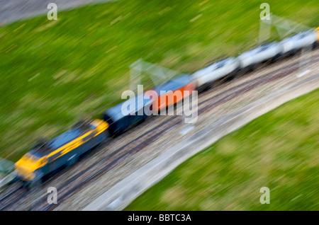 Niederländischen Eisenbahnen als replizierten in Madurodam - Stockfoto