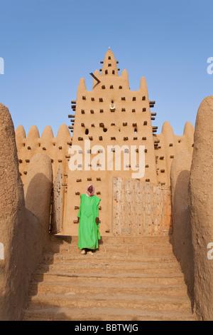 Große Moschee von Djenne, Djenné, Mopti Region, Niger im Landesinneren Delta, Mali, Westafrika - Stockfoto