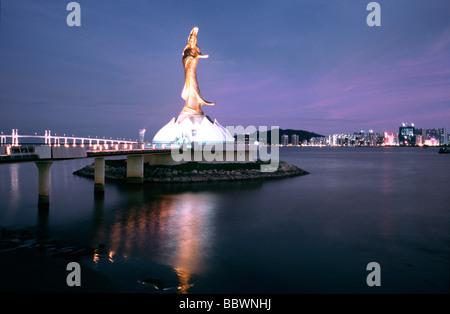 Kun Iam Tempel (Göttin der Barmherzigkeit) in Macau. - Stockfoto