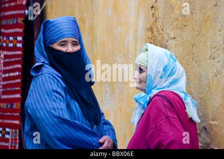 Marokkanische Muslima in der Altstadt von Fes Marokko - Stockfoto