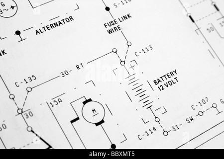 elektrischer Schaltplan Stockfoto, Bild: 24571484 - Alamy