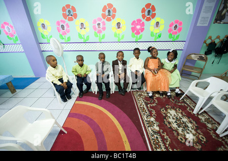 Sint Eustatius Oranjestad Kinder der Adventisten - Stockfoto