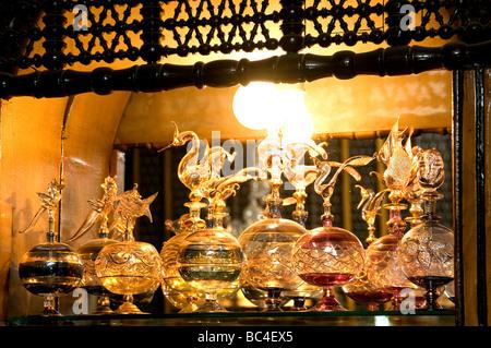 Khan el Khalili-Kairo-Ägypten-Basar-Parfüm-Flasche - Stockfoto