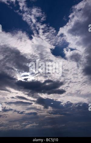 Kontrast bei bewölktem Himmel - Stockfoto