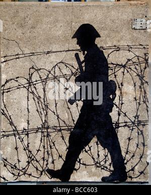 Berliner Mauer Eisernen Vorhangs deutscher West-Ost-Deutschland - Stockfoto