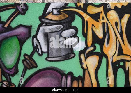 Graffiti-Wand-Kunst - Stockfoto