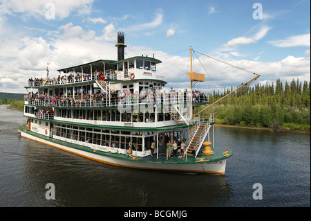 Riverboat Discovery auf einer Tour der Chena River Fairbanks Alaska - Stockfoto