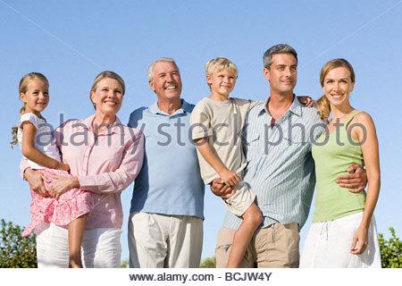 Multi-Generations-Familie - Stockfoto