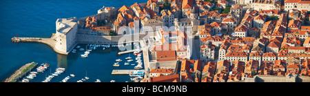 Arial Ansicht der alten Stadt-Hafen Dubrovnik - Kroatien - Stockfoto