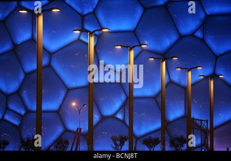 Detail des Water Cube in der Nacht, Peking, China - Stockfoto