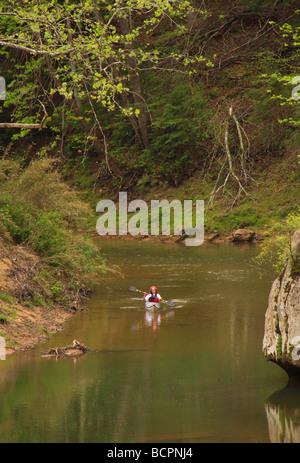 Kajakfahrer am Red River Red River Gorge geologischen Bereich Slade Kentucky - Stockfoto