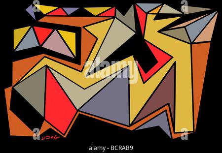 Abstrakte Formen, 2008, Diana Ong (b.1940/chinesisch-amerikanischen) Computergrafik - Stockfoto