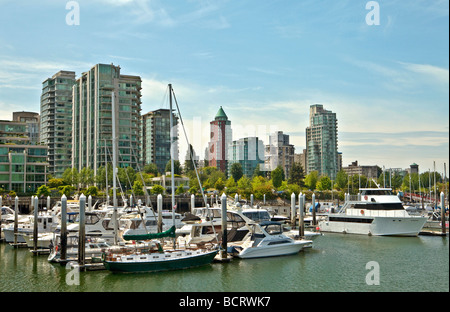 Coal Harbour Vancouver British Columbia Kanada - Stockfoto