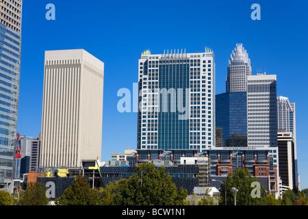 Charlotte Skyline, North Carolina, USA - Stockfoto