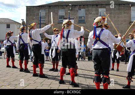Morris Tanz an der Warwick Folk Festival, UK - Stockfoto