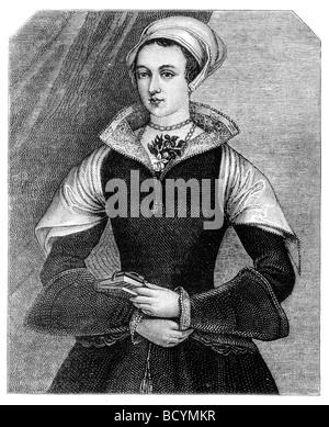 Porträt von Lady Jane Grey die neun Tage Königin - Stockfoto