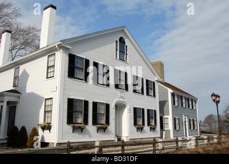 Haus im Kolonialstil in Plymouth, Massachusetts - Stockfoto