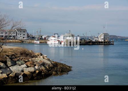 Hafen von Plymouth, Massachusetts - Stockfoto
