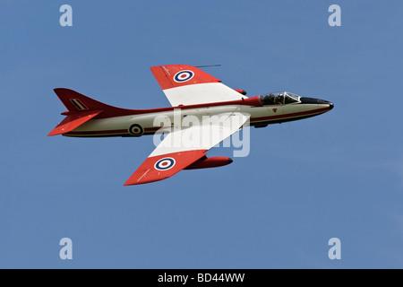 Ein RAF Hawker Hunter Kämpfer in ETPS Farbschema - Stockfoto