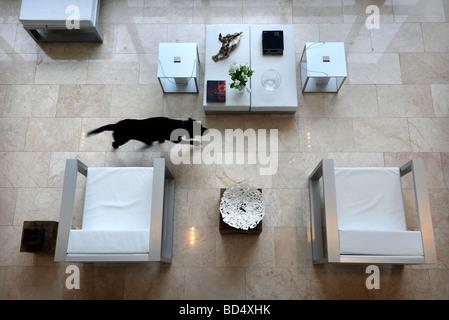 DAS BLAUE HAUS IN SNEYD PARK BRISTOL ALS SONDERANGEBOT-KANAL VIER S GRAND DESIGNS UK - Stockfoto