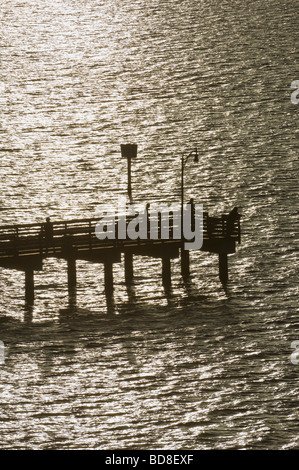 Fishing Pier Erholungsgebiet aus Jensen Beach Causeway in der Indian River Lagune IRL - Stockfoto