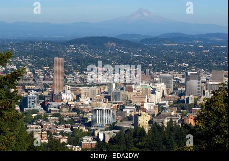 Ansicht der Innenstadt von Portland - Stockfoto