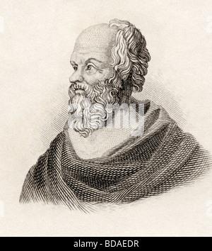 Sócrates, c 469 v. Chr. - 399 v. Chr.. Klassischen griechischen Philosophen. - Stockfoto