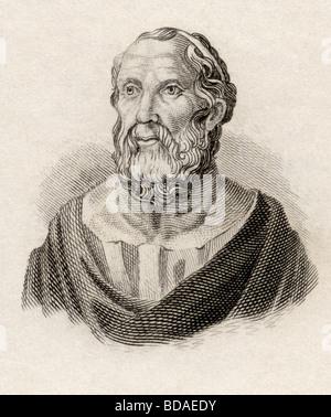 Platon 428 bis 427 v. Chr. geboren starb zwischen 348 und 347 v. Chr..  Klassischer griechischer Philosoph. - Stockfoto