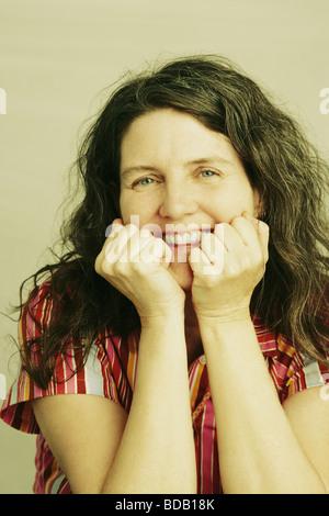 Porträt einer reifen Frau, Lächeln - Stockfoto