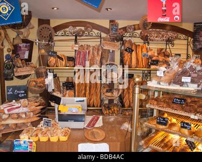 Ein typisch französisches Brot-Shop. - Stockfoto