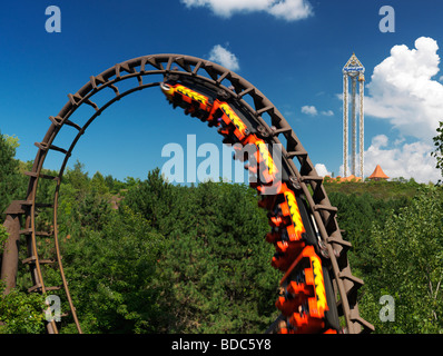 Dragon Mountain Achterbahn im Marineland Niagara Falls - Stockfoto