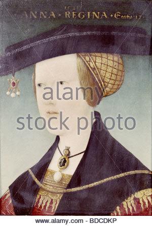 Anna Jagellonica, 23.7.1503 - 27.1.1547, Königin von Böhmen und Ungarn, Portrait, Malerei von Hans Maler zu Schwaz, - Stockfoto