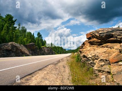 Highway 60 in Algonquin Provincial Park, Ontario, Kanada - Stockfoto